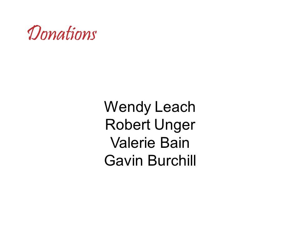 Wendy Leach Robert Unger Valerie Bain Gavin Burchill