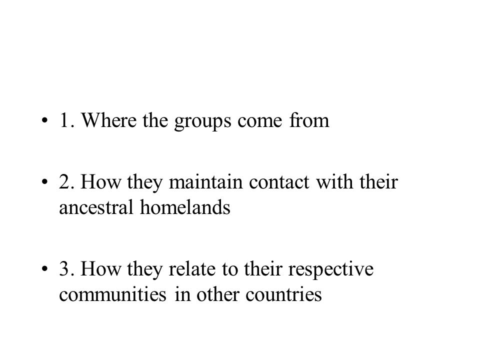 1. Where the groups come from
