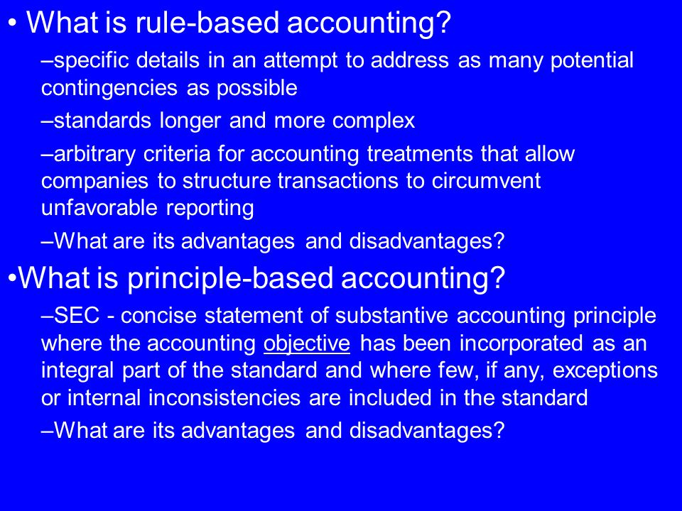 What is rule-based accounting