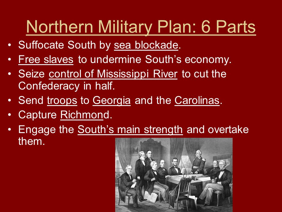 Northern Military Plan: 6 Parts