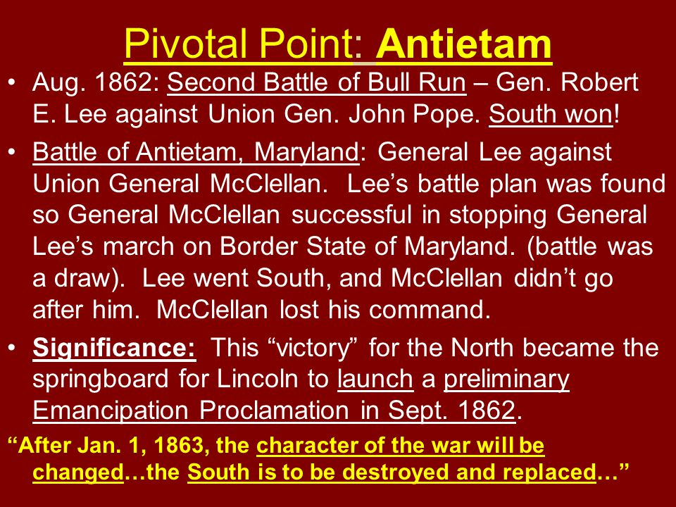 Pivotal Point: Antietam