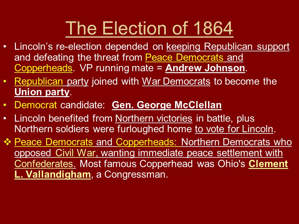 The Election of 1864