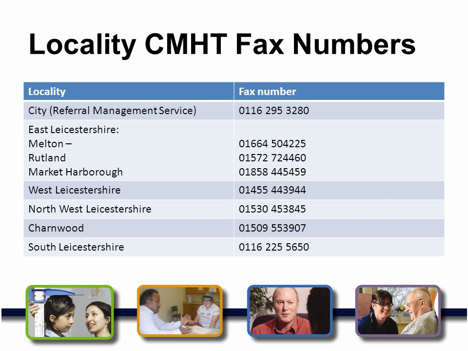 Locality CMHT Fax Numbers
