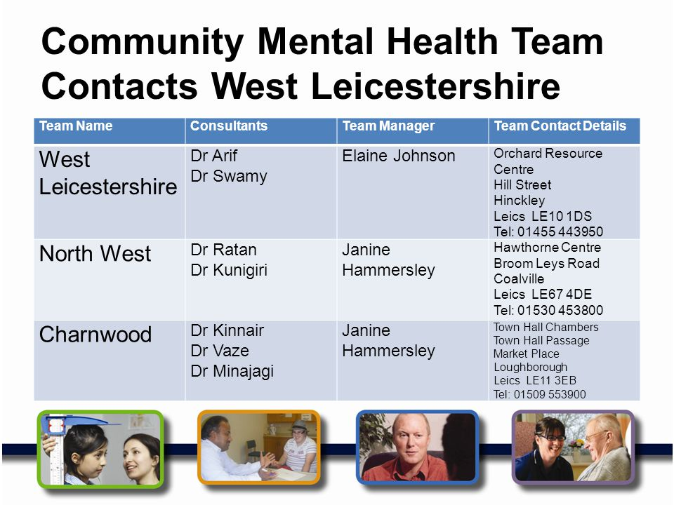 Community Mental Health Team Contacts West Leicestershire