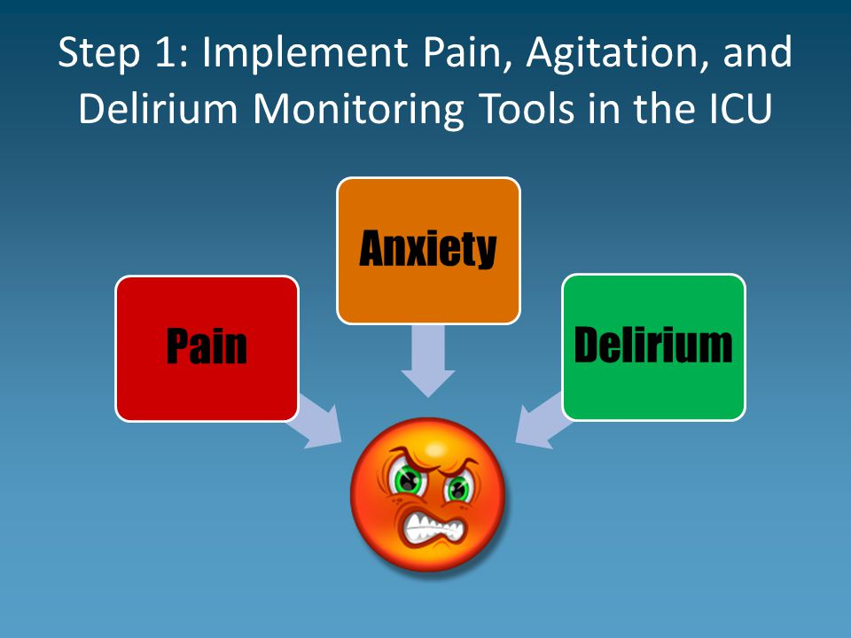 Step 1: Implement Pain, Agitation, and Delirium Monitoring Tools in the ICU