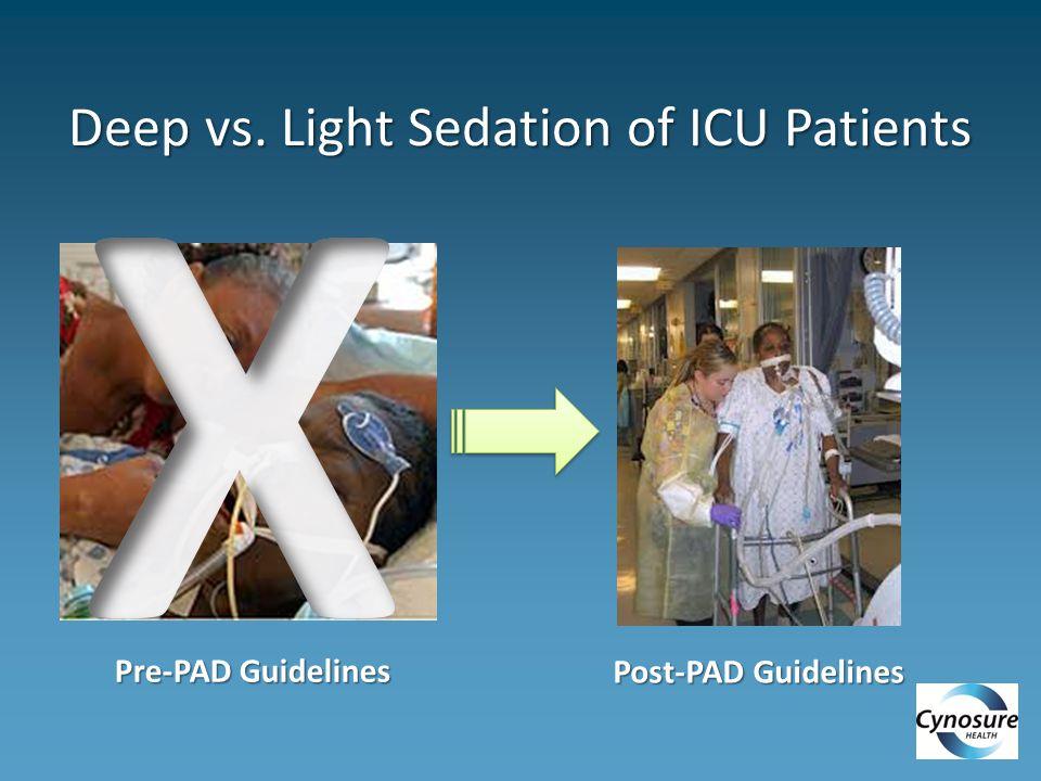 Deep vs. Light Sedation of ICU Patients