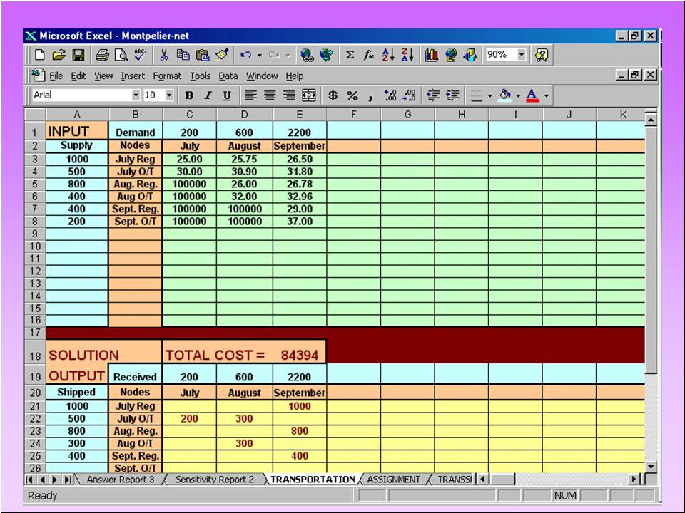 MONTPELIER SKI COMPANY - Spreadsheet