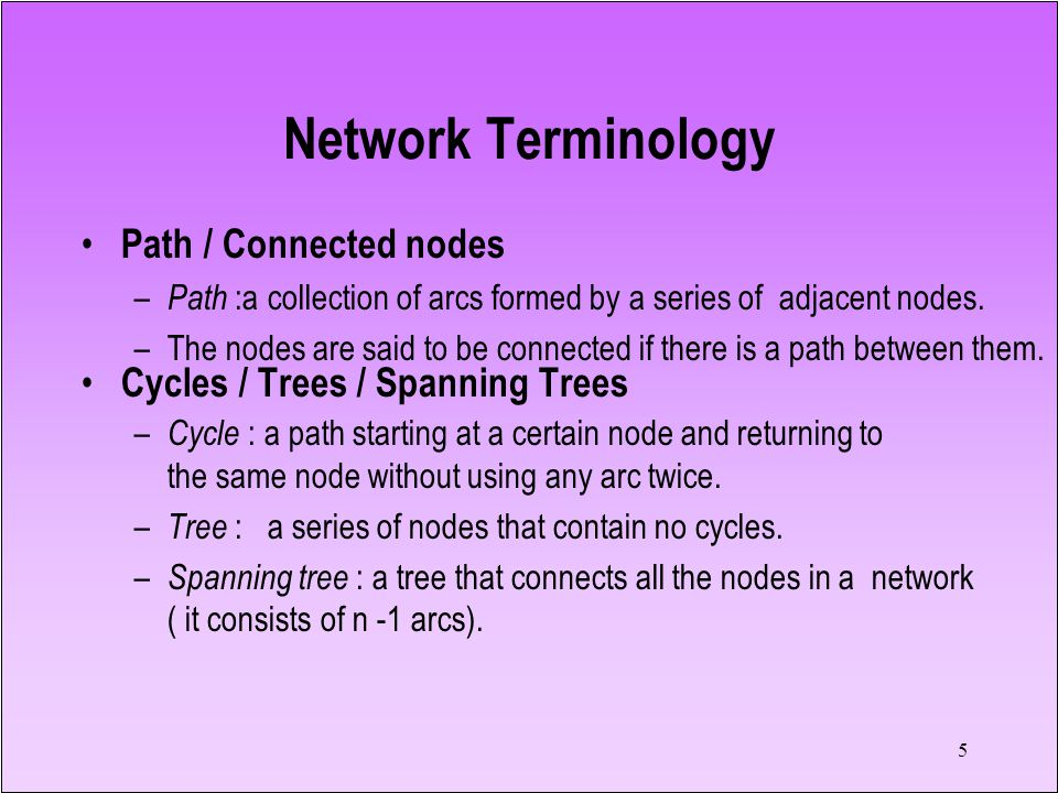 Network Terminology Path / Connected nodes