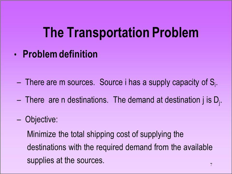 The Transportation Problem
