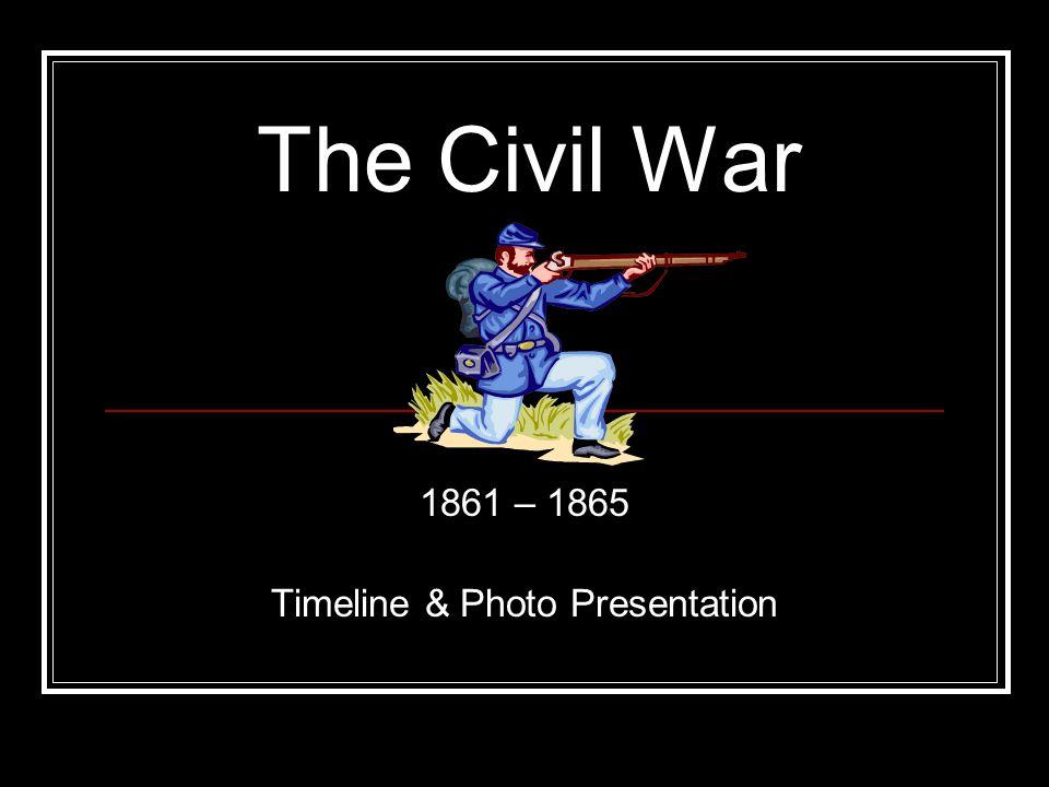 1861 – 1865 Timeline & Photo Presentation