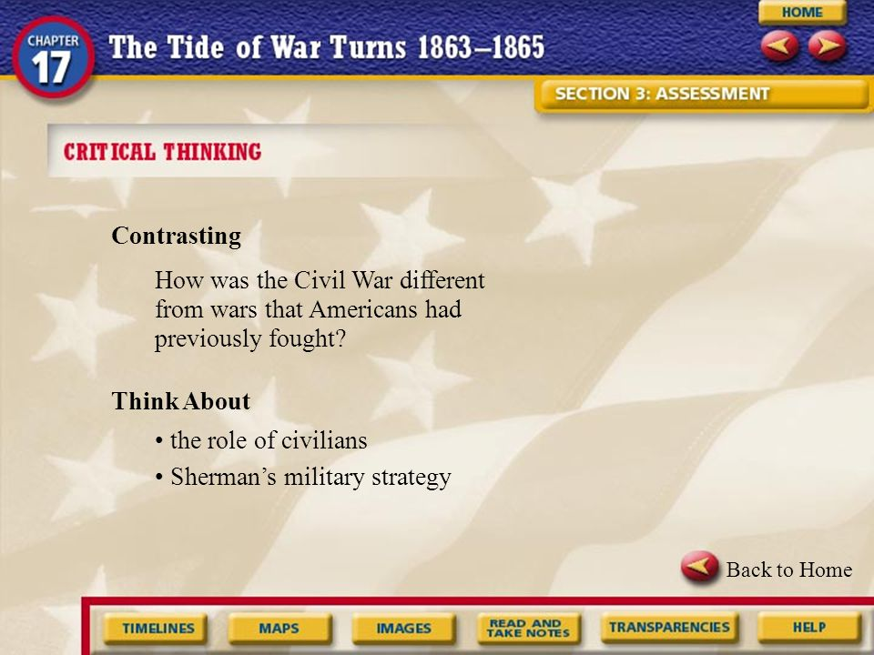 • Sherman's military strategy