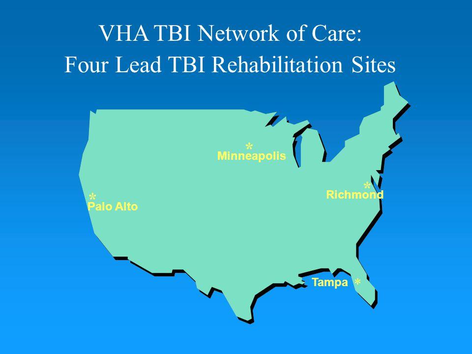 VHA TBI Network of Care: Four Lead TBI Rehabilitation Sites