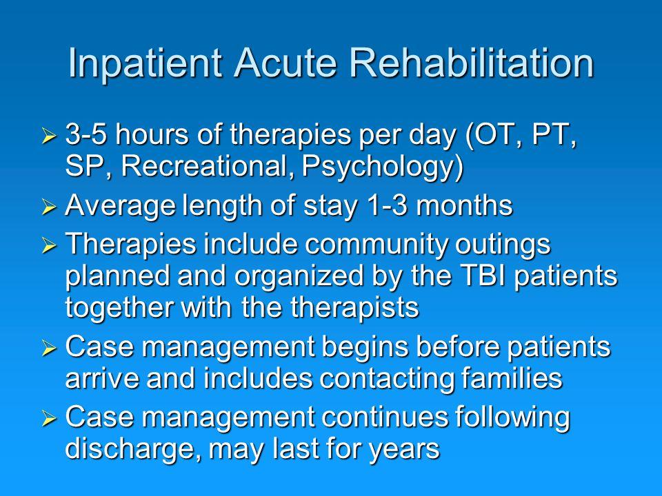 Inpatient Acute Rehabilitation