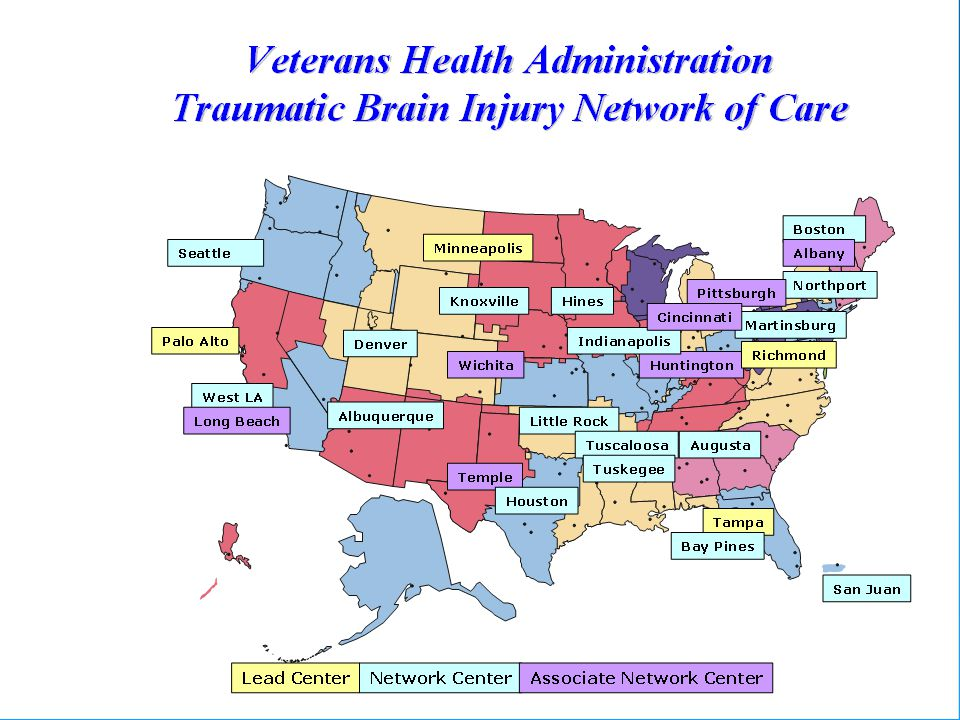 4 TBI Lead Centers Each Center has 8 to 10 beds that they allow for TBI patients. CARF Accredited in Brain Injury Rehabilitation.