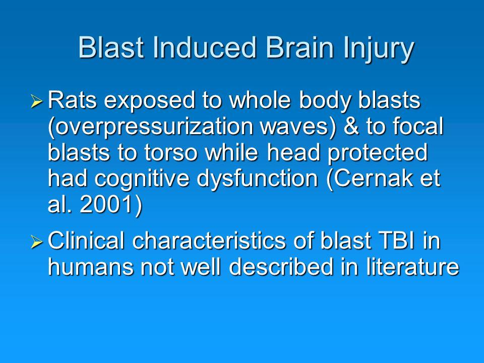 Blast Induced Brain Injury