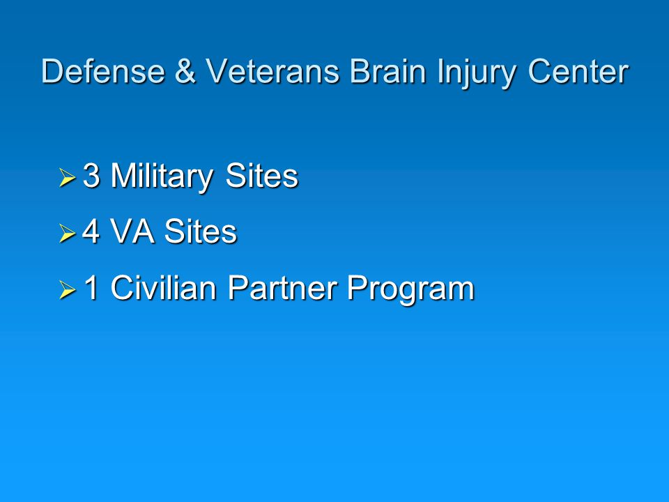 Defense & Veterans Brain Injury Center