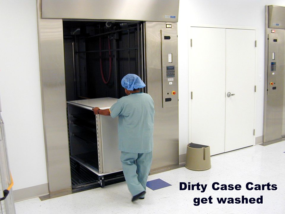 Dirty Case Carts get washed