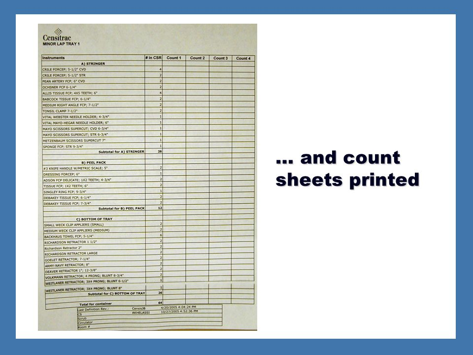 … and count sheets printed