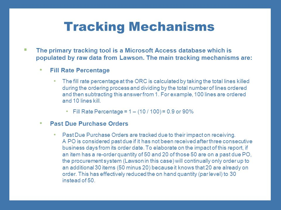 Tracking Mechanisms