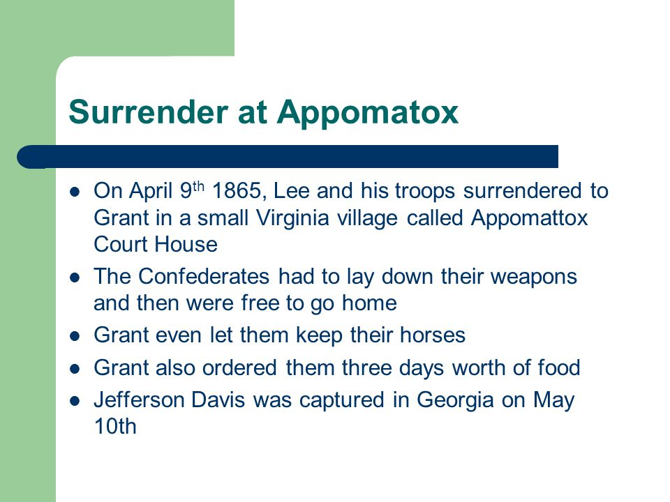 Surrender at Appomatox