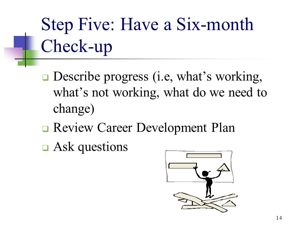 Step Five: Have a Six-month Check-up