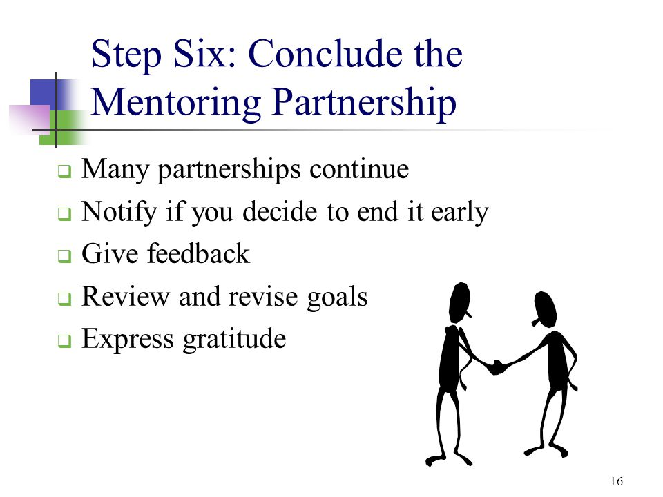 Step Six: Conclude the Mentoring Partnership