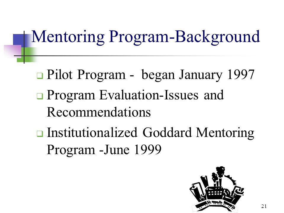 Mentoring Program-Background