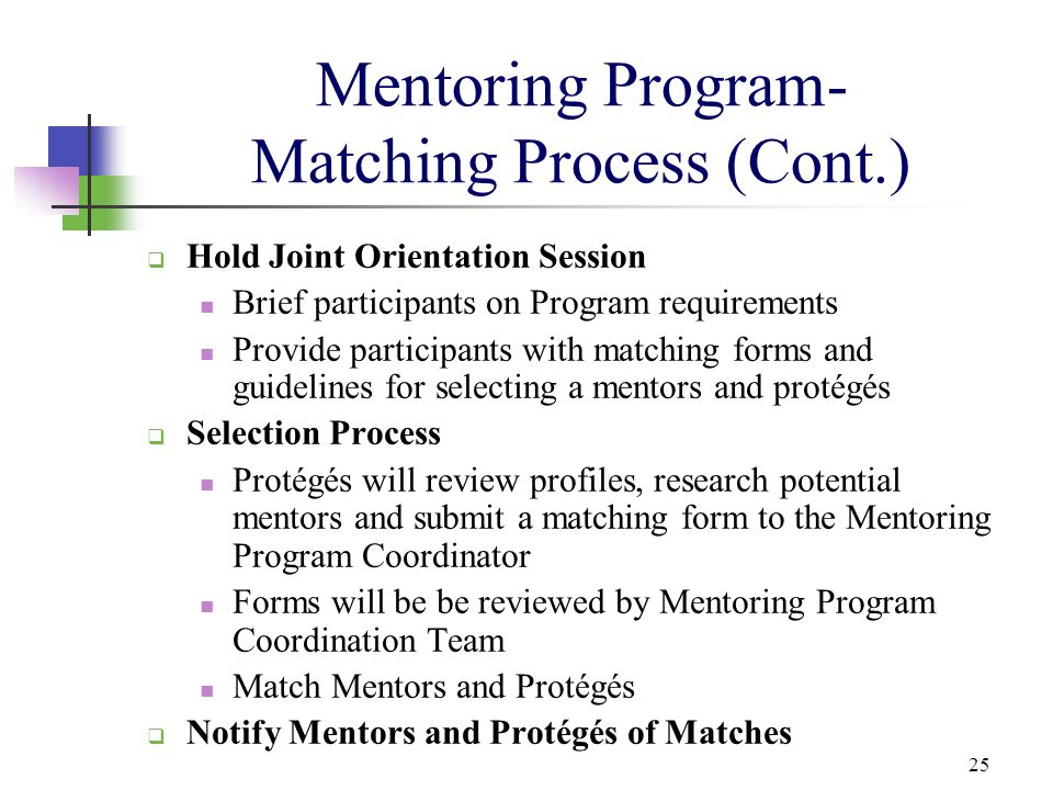 Mentoring Program- Matching Process (Cont.)
