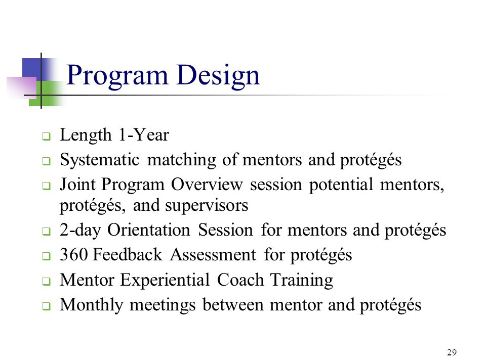 Program Design Length 1-Year