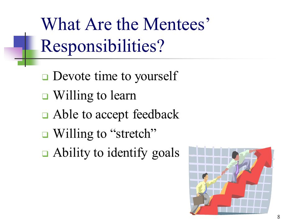 What Are the Mentees' Responsibilities