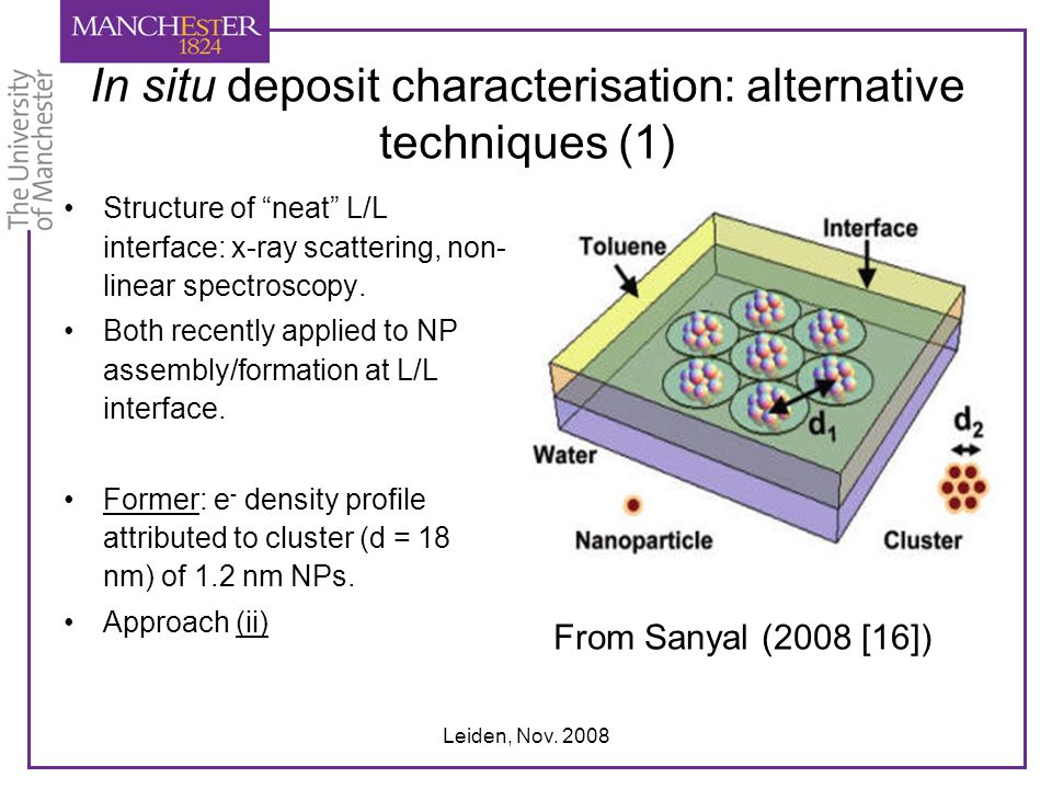 In situ deposit characterisation: alternative techniques (1)