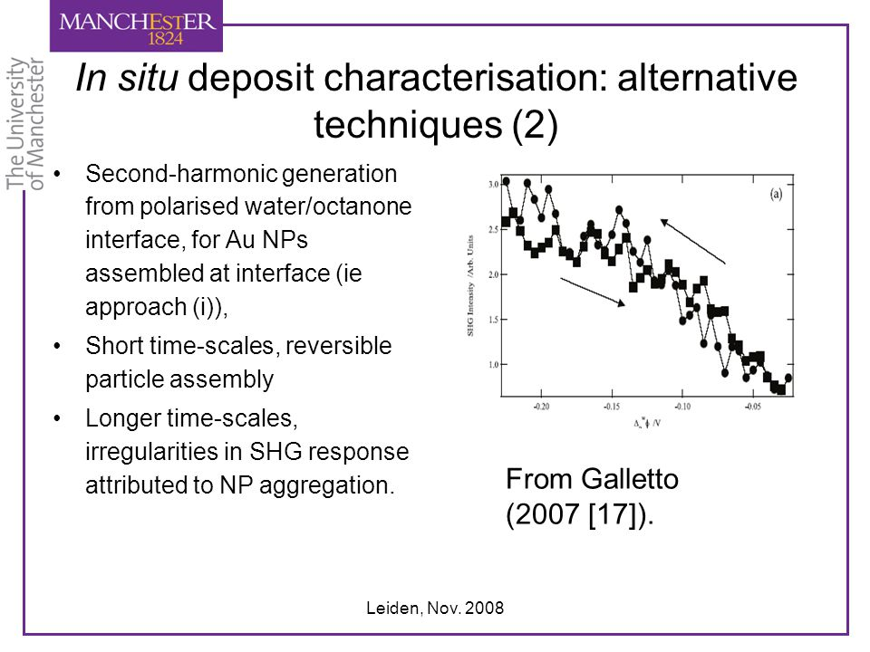 In situ deposit characterisation: alternative techniques (2)