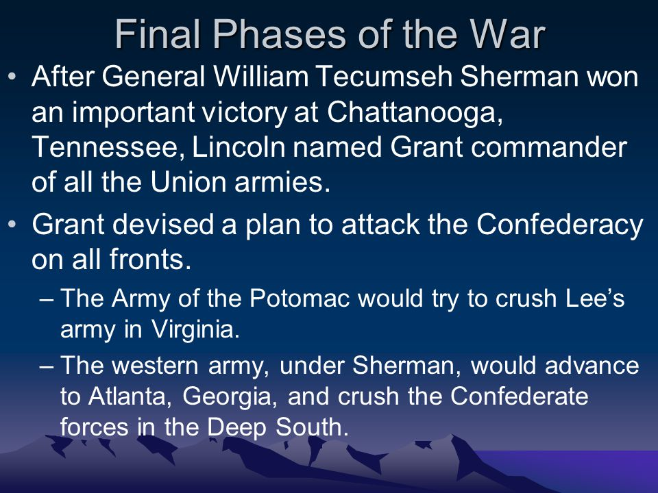 Final Phases of the War