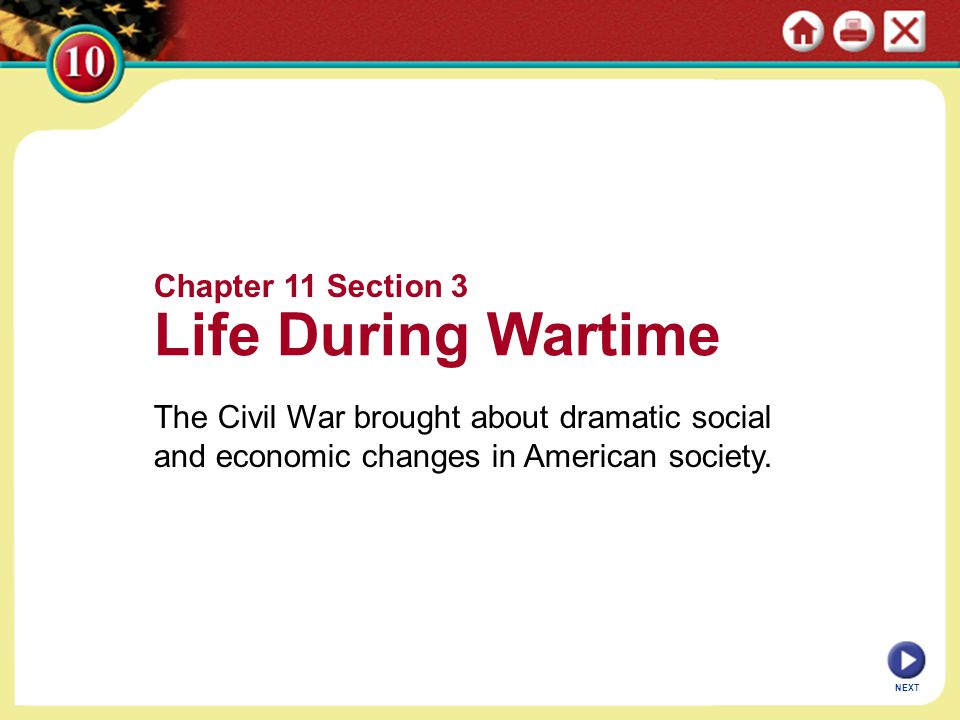 Life During Wartime Chapter 11 Section 3