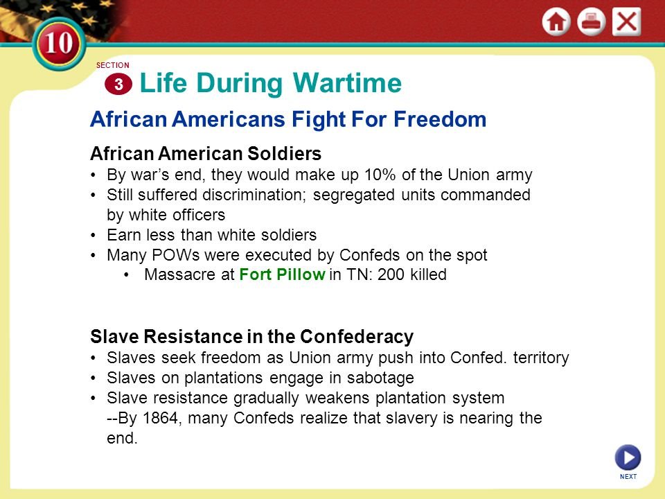 Life During Wartime African Americans Fight For Freedom