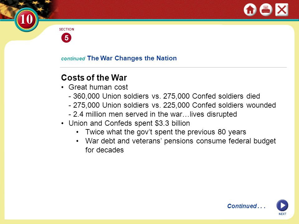 Costs of the War 5 Great human cost