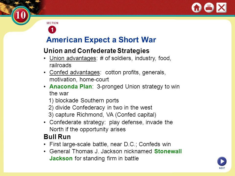 American Expect a Short War