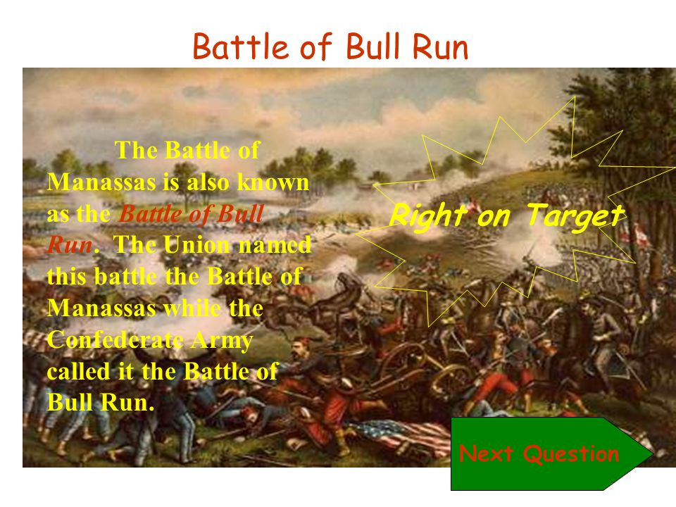 Battle of Bull Run Right on Target