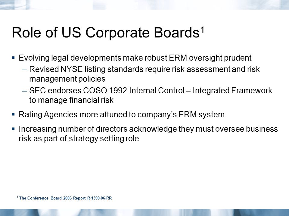Role of US Corporate Boards1