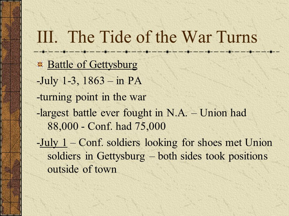 III. The Tide of the War Turns