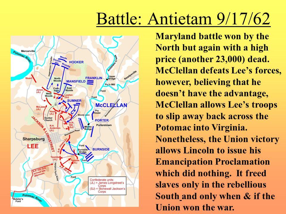 Battle: Antietam 9/17/62