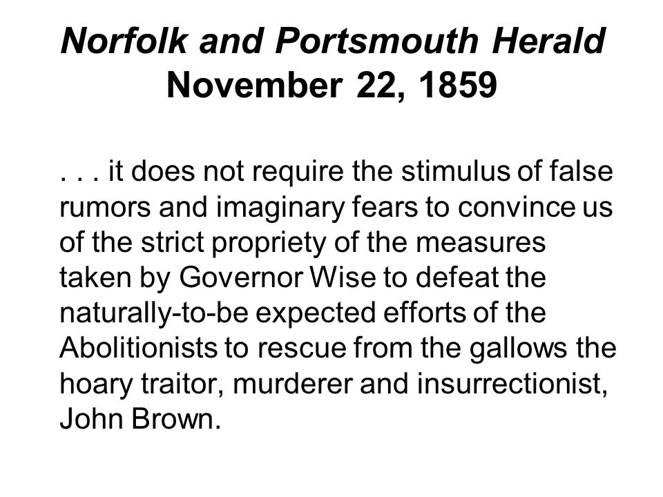 Norfolk and Portsmouth Herald November 22, 1859