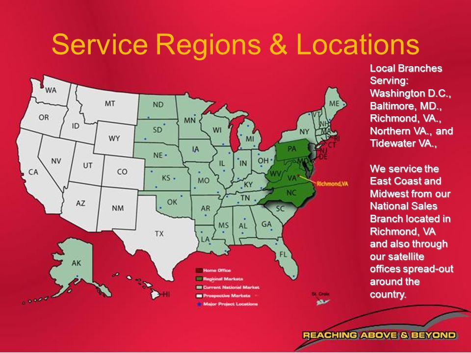 Service Regions & Locations