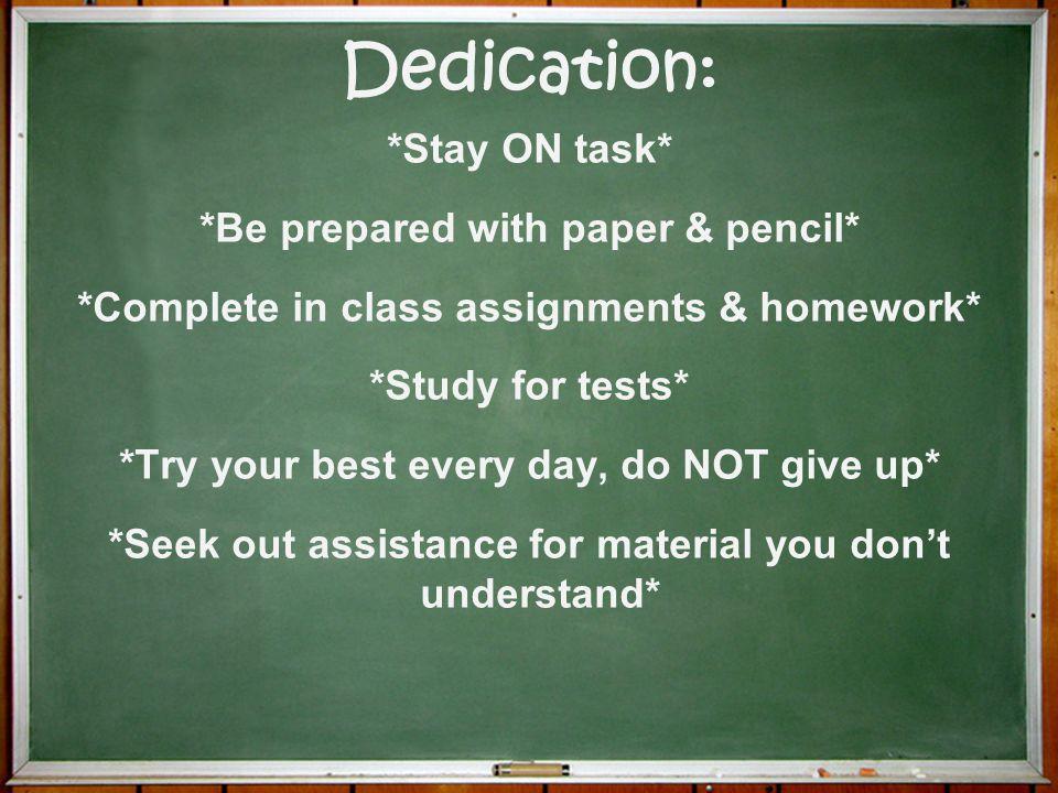 Dedication:
