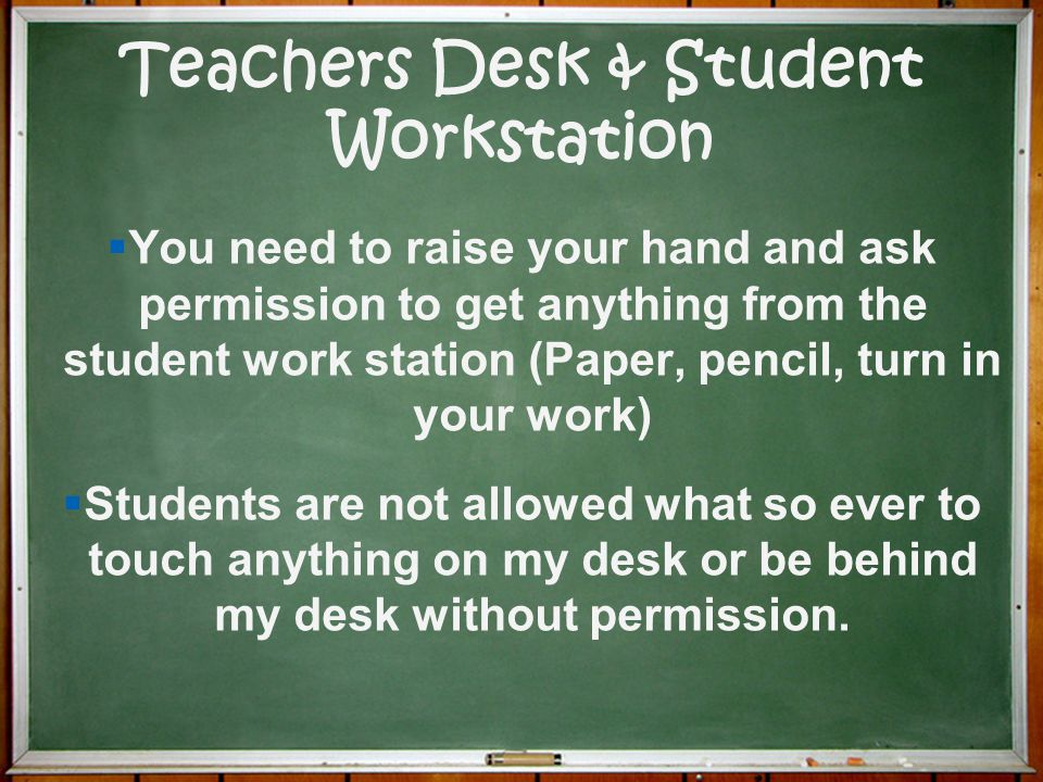 Teachers Desk & Student Workstation