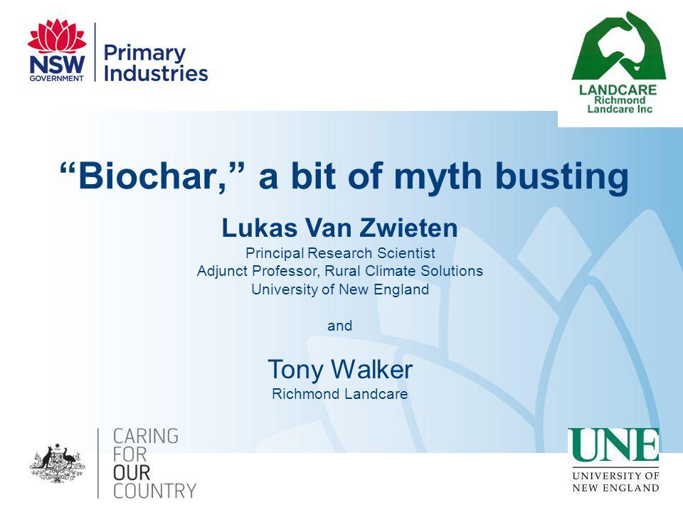 Biochar, a bit of myth busting