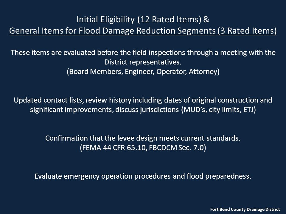 Initial Eligibility (12 Rated Items) &