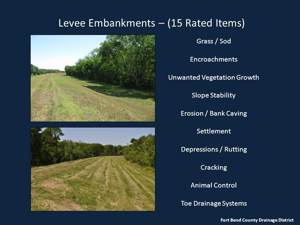 Levee Embankments – (15 Rated Items)