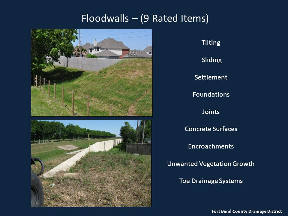 Floodwalls – (9 Rated Items)
