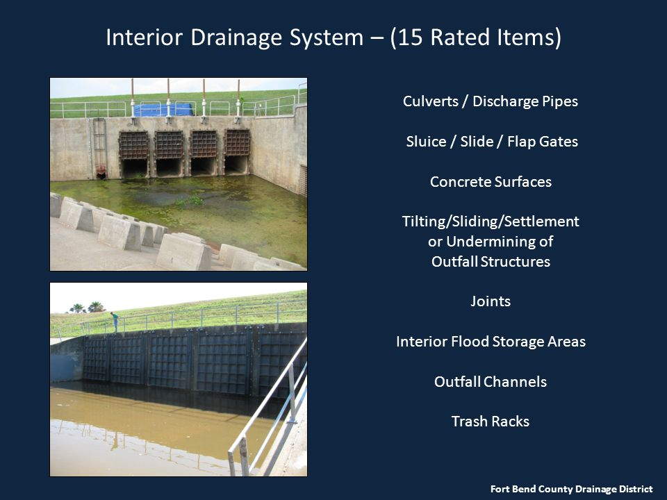 Interior Drainage System – (15 Rated Items)